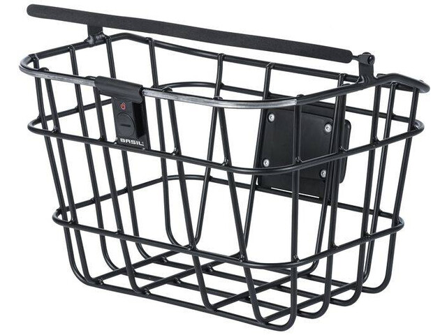 Basil Bremen Alu Front Wheel Basket with Klickfix, Northern Lights black